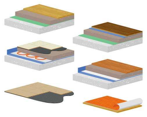 Напольные покрытия