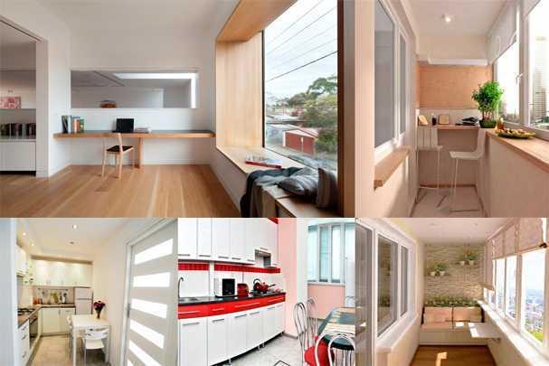 Как соединить кухню с балконом законным методом?