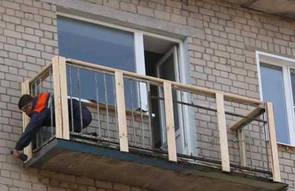 Как обшить балкон профнастилом снаружи своими руками