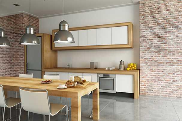 Разработка дизайна кухни с учетом наличия вентиляционного короба в углу