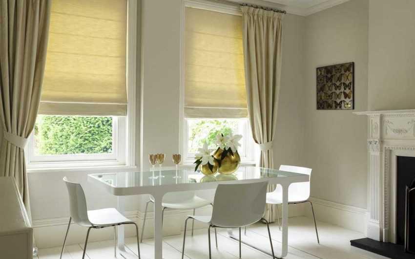 Двойные шторы— особенности сочетания оттенков и узоров штор. Разновидности конструкций для двойных. Инструкции по самостоятельному пошиву (160 фото)